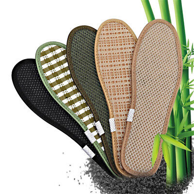"""3 Pairs Unisex Healthy Bamboo Charcoal Insole Deodorant Cushion Foot Inserts /"""""""
