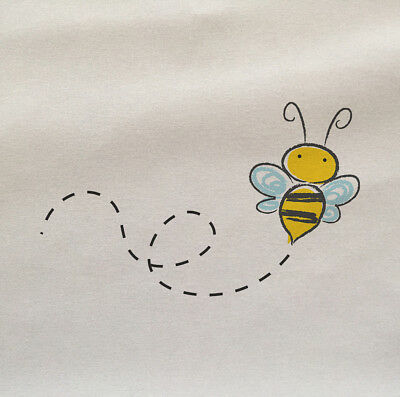 bee Illustration Printed On Fabric Panel Make A Cushion Upholstery Craft