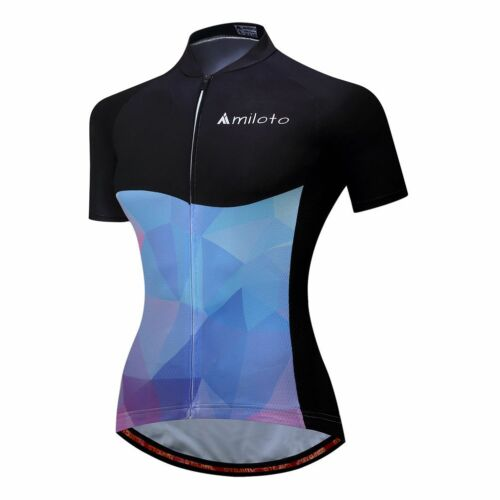Blue Women/'s Bicycle Short Sleeve Shirts Reflective Cycling Biking Jersey Red