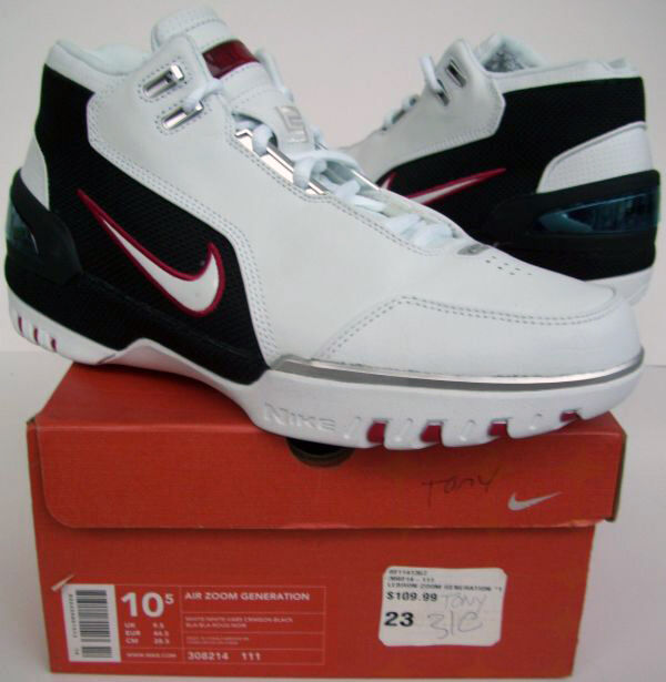 5c47ae2b4bb Nike AIR ZOOM GENERATION Lebron James 1st shoe AZG LJ23 w...Guaranteed  Authentic
