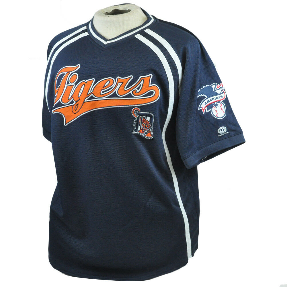 MLB American League Detroit Tigers Echt Fan Fan Fan Authentisch Netz Trikot Hemd L L 37b00a
