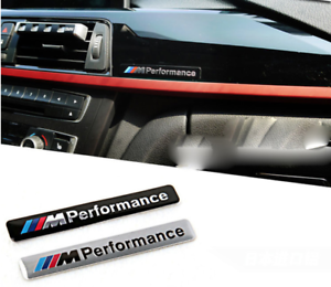 BLACK-BMW-M-Performance-sport-Metal-Logo-Car-Sticker-Emblem-Grill-Badge-Motor
