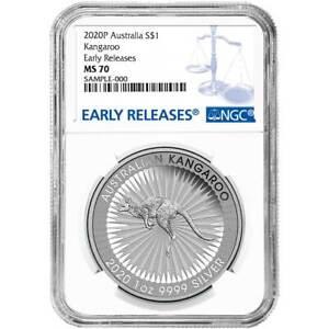 2020-1-Silver-Australian-Kangaroo-1oz-NGC-MS70-Blue-ER-Label
