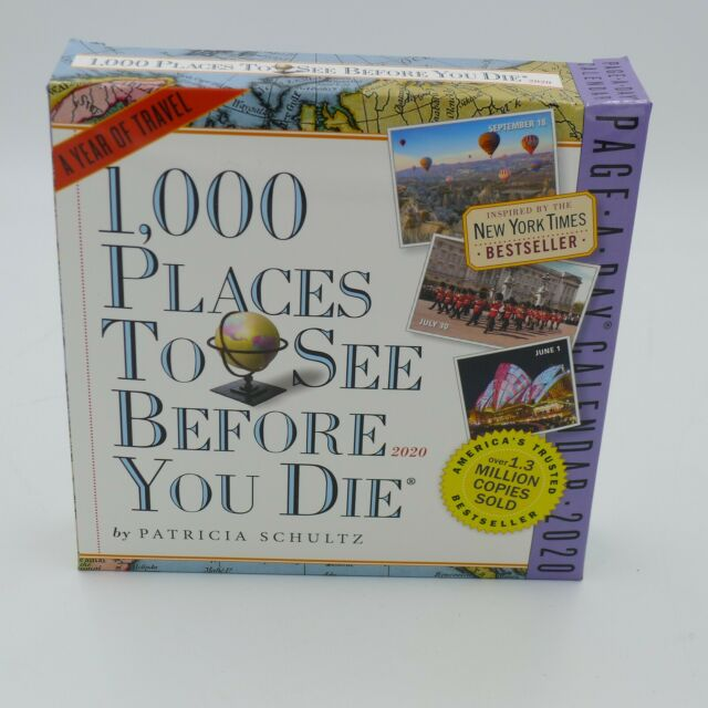 2020 1 000 Places To See Before You Die Page-a-day Desk Calendar