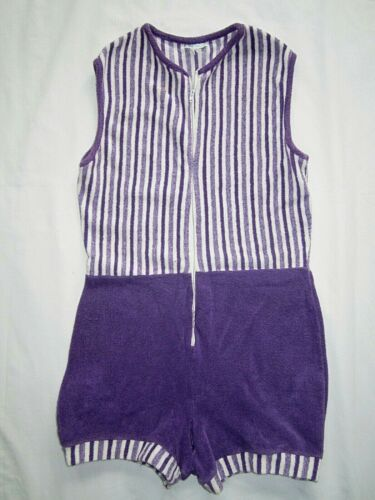 Vintage Romper Jumpsuit Terry Cloth Womens Carol E