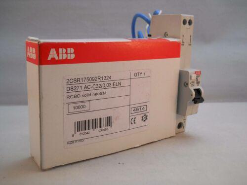 ABB RCBO 32 Amp 30mA C32 Tipo C 32A System Pro M DS271 2CSR175092R1324 Nuevo