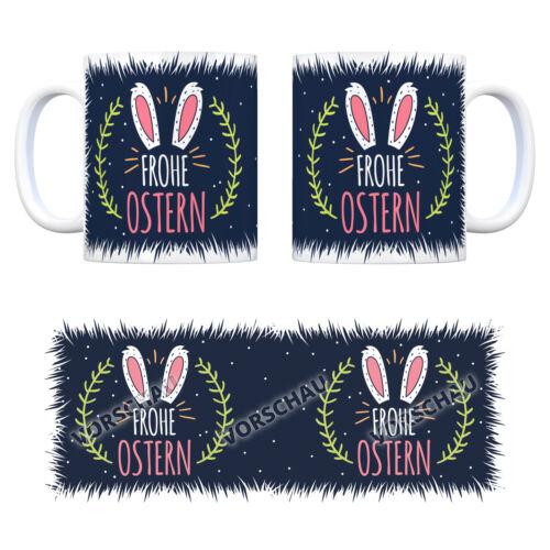Frohe Ostern Kaffeebecher Feiertag Kaffeetasse Tasse Hase