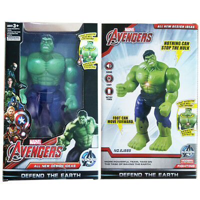 Beliebte Marke 2017 Marvel Avengers Electronic Hulk Walking Sound Light Action Figure Toy Gift