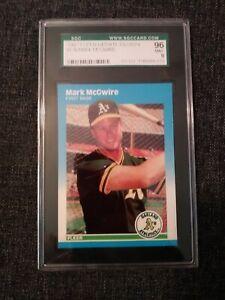 1987-Fleer-Mark-Mcgwire-GRADED-9-U-76-Baseball-Card