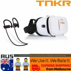 Virtual Reality Headset Vr Box 3d Glasses Hd Audio Bt Remote