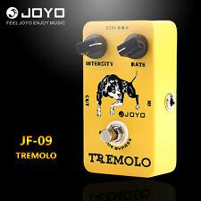 Joyo JF-09 Tremolo Electric Guitar Effect Pedal STOMPBOX True Bypass Yellow 9V