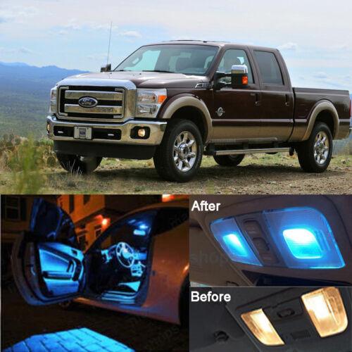 Ice Blue LED SMD Interior Kit License Light LED For Ford F250 F350 1999-2010