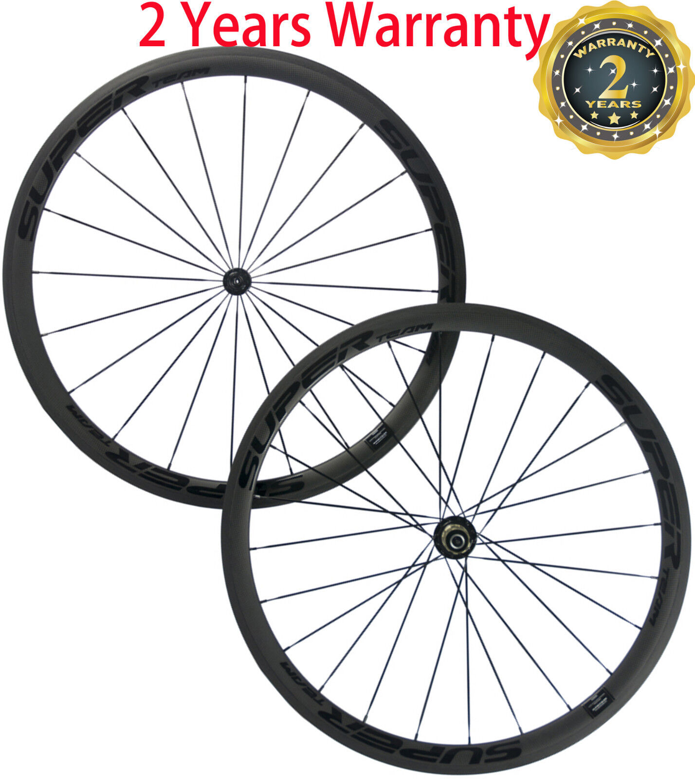Superteam 38mm Clincher  Wheels 25mm U Shape Carbon Bicycle Wheelset Front+Rear  clients first reputation first