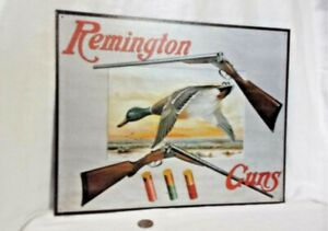 Remington Right of Way TIN SIGN metal rifle bear hunting cabin wall decor 927