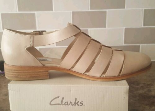 Clarks Oyster d'été cuir Chaussures en Uk8 Us10 Sandales Eu41 IOrqIvx