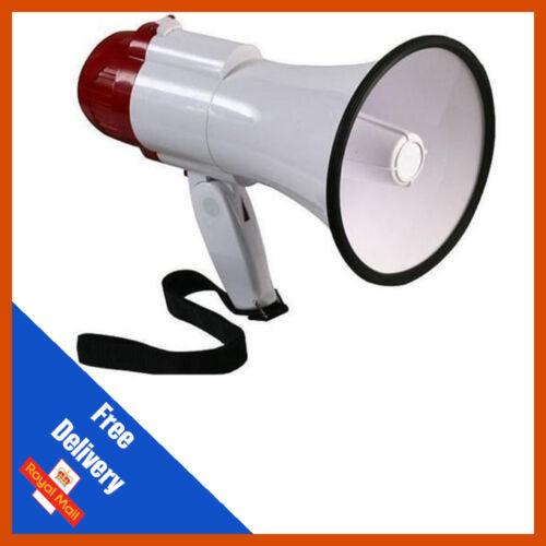Megaphone 10w Pistol Grip Loud Speaker Siren HailerLoudRed//White