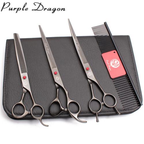 "8/"" 440C Straight Shears Thinning Shears Dog Grooming Kit Pet Scissors Set Z3005"