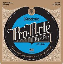 D'Addario EJ48 Pro Arte Nylon Classical Guitar Strings hard tension 80/20 brze