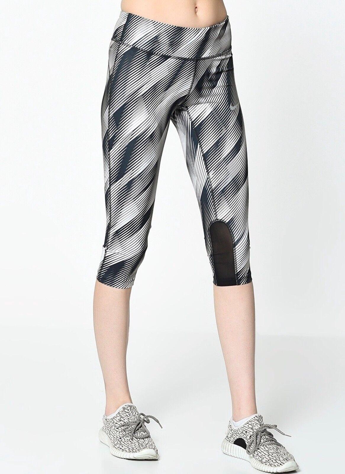 Women's NIKE POWER Epic Run Capri Pants.     Medium    831621-100