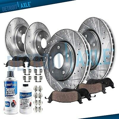 ECCPP Front Rear Brakes Disc Rotor and Ceramic Brake Pad fit for 2007-2008 Nissan Maxima