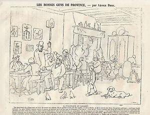 Gravure-ancienne-1880-la-politique-au-cabaret-par-L-Petit
