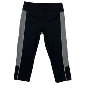 TEK-GEAR-Women-039-s-Medium-Shapewear-Stretch-Activewear-Capri-Crop-Pants-Black