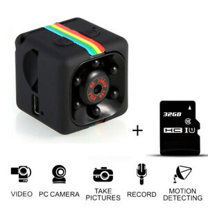 COP CAM New Security Camera 16// 32GB Motion Detection Card Night Vision Recorder