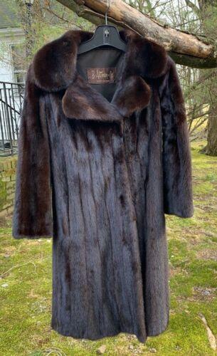 DONALD BROOKS VINTAGE MINK COAT Full Length~Small