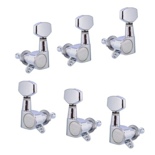 Guitar String Tuning Pegs Tuners Machine Heads for Electric Acoustic 6R Chrome