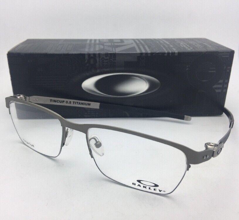 09737cc6b0a15 Eyeglasses Oakley Tincup 0.5 Titanium 5099-02 53 Powder Steel for ...
