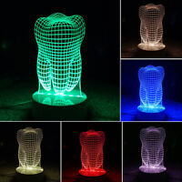 2017 3d Led Desk Table Lamp Luces Navidad Bedside Lamps Home Decor Tooth Style