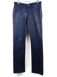 7-FOR-ALL-MANKIND-Dark-Wash-Slimmy-Luxe-Performance-Stretch-Denim-Jeans-Sz-31