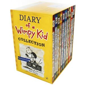 Diary-Of-Wimpy-Kid-Series-10-Books-Children-Collection-Paperback-By-Jeff-Kinney