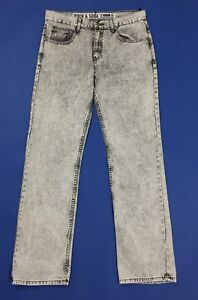 Rock-soda-jeans-uomo-usato-W34-tg-48-slim-gamba-dritta-vintage-boyfriend-T4561