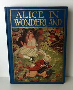ALICE-IN-WONDERLAND-Milo-Winter-1926-Antique-Edition-12-Color-Plates
