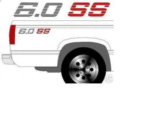 6.0 à manches courtes camion de chevet decals avec Couleur Choix-Livraison gratuite!