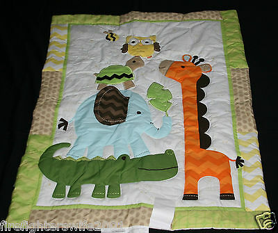 Circo Jungle Stack Safari 5 piece crib nursery bedding set #543