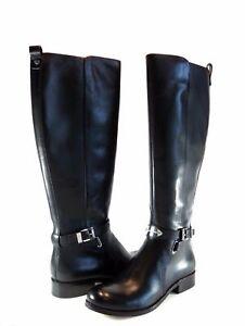 75498bb8c8b0 Michael Kors Arley Riding Boot Black Leather Tall Knee High Size 5.5 ...