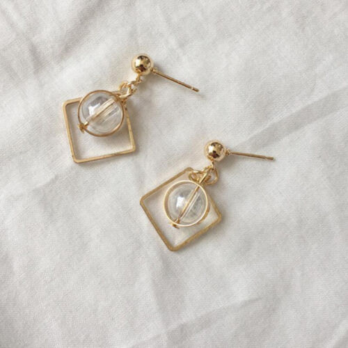 1 Pair Women Simple Earring Hollow Geometric Circle Ear Stud Earrings Jewelry