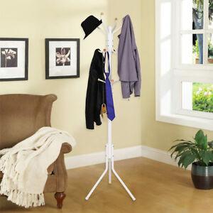 Garderobenstander-metall-Kleiderstander-Standregal-Garderobe-Regal-182cm-RCR19W
