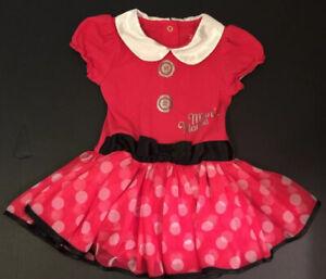 Disney Minnie Mouse Baby Girl 9 12 Months Costume Dress Bodysuit B Ebay