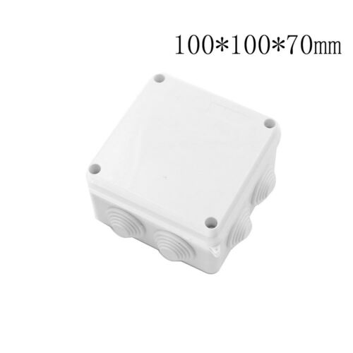 1XPlastic Waterproof Electrical Junction Box 100*100*70mm IP65 With 7 Holes LP