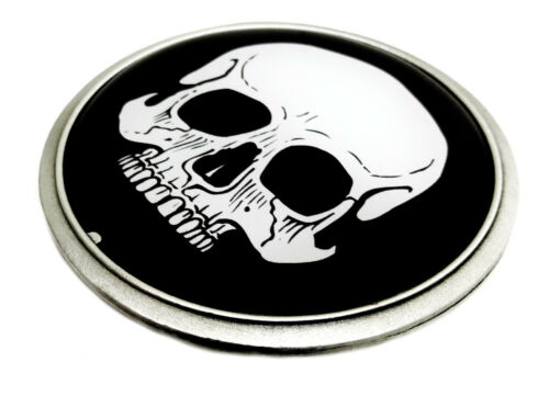 Skull Belt Buckle Flat 2D Black /& White Gothic Authentic Great American Products