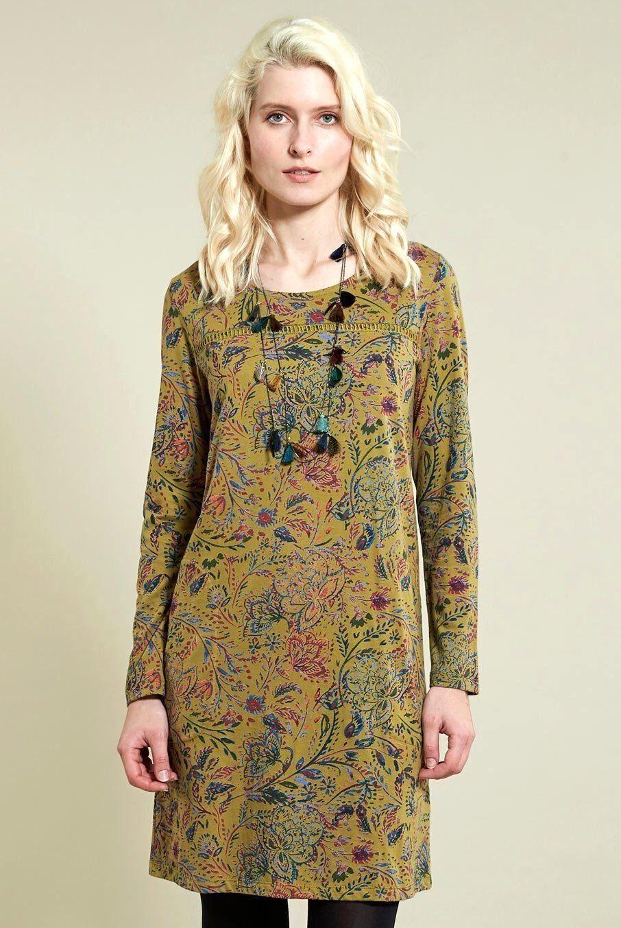 SALE NOMADS fair TRADE ORGANIC cotton JERSEY tunic SHIFT dress AMARA AR3019
