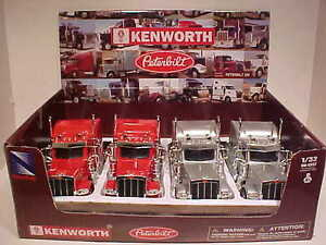4-Pack-of-Peterbilt-389-Sleeper-Semi-Tractor-Rig-Truck-1-32-New-Ray-12-inch