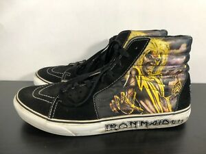 ad0ce29b2d6 Image is loading Vans-Sk8-HI-Iron-Maiden-Killers-Powerslave-Shoes-