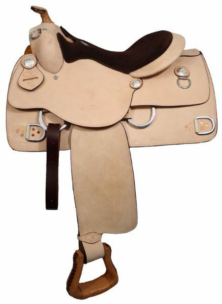 Premium leather Double T training saddle 16