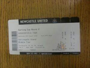 26-08-2009-Ticket-Newcastle-United-v-Huddersfield-Town-Football-League-Cup-C