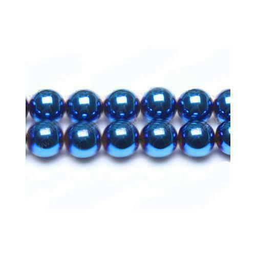 Pcs Gemstones Jewellery Round Beads 6mm Blue//Purple 62 Hematite Non Magnetic