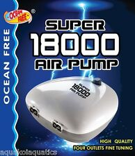 OCEAN FREE SUPER 18000 AQUARIUM 4-WAY AIR PUMP FISH TANK LARGE AIRPUMP 720 L/H